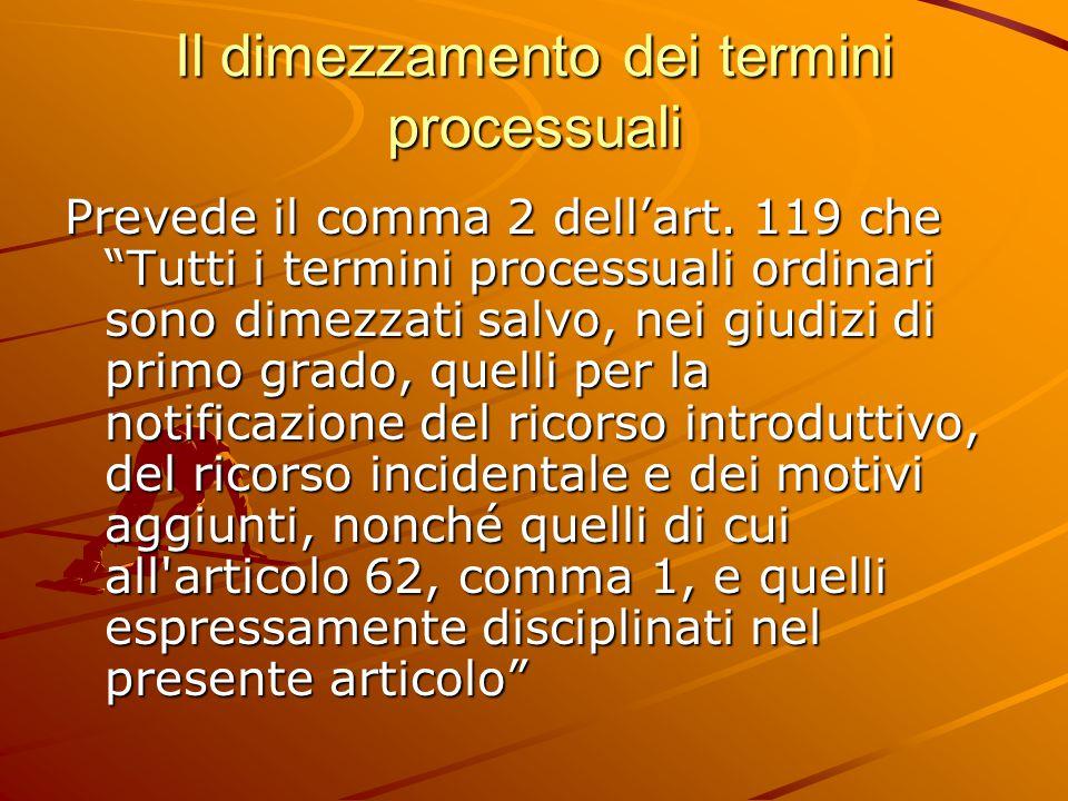 Il dimezzamento dei termini processuali