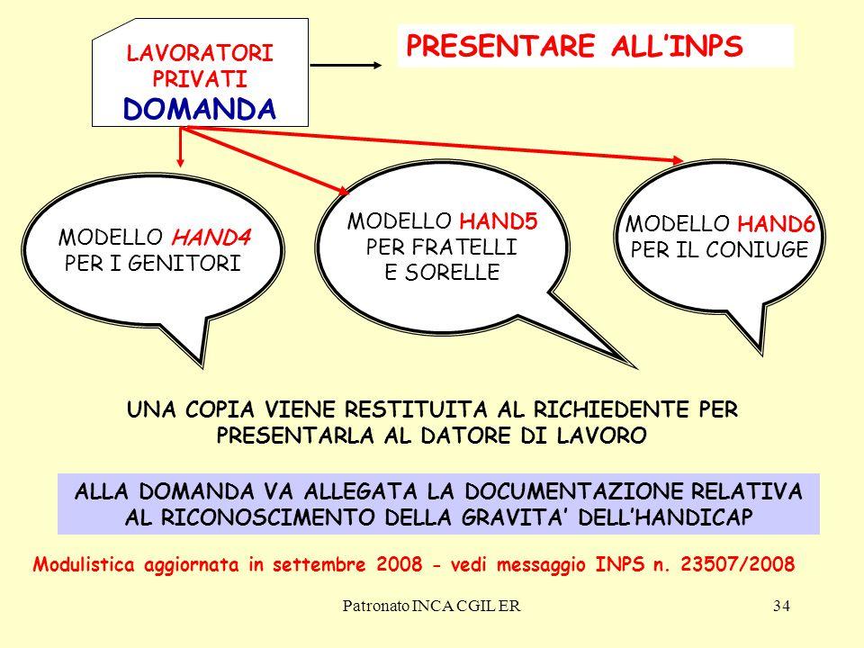 PRESENTARE ALL'INPS DOMANDA LAVORATORI PRIVATI MODELLO HAND5