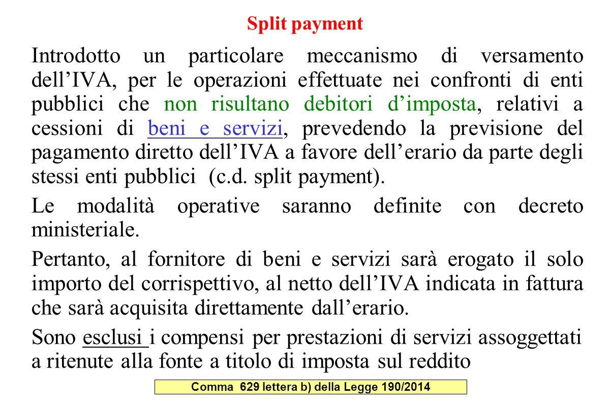 Comma 629 lettera b) della Legge 190/2014