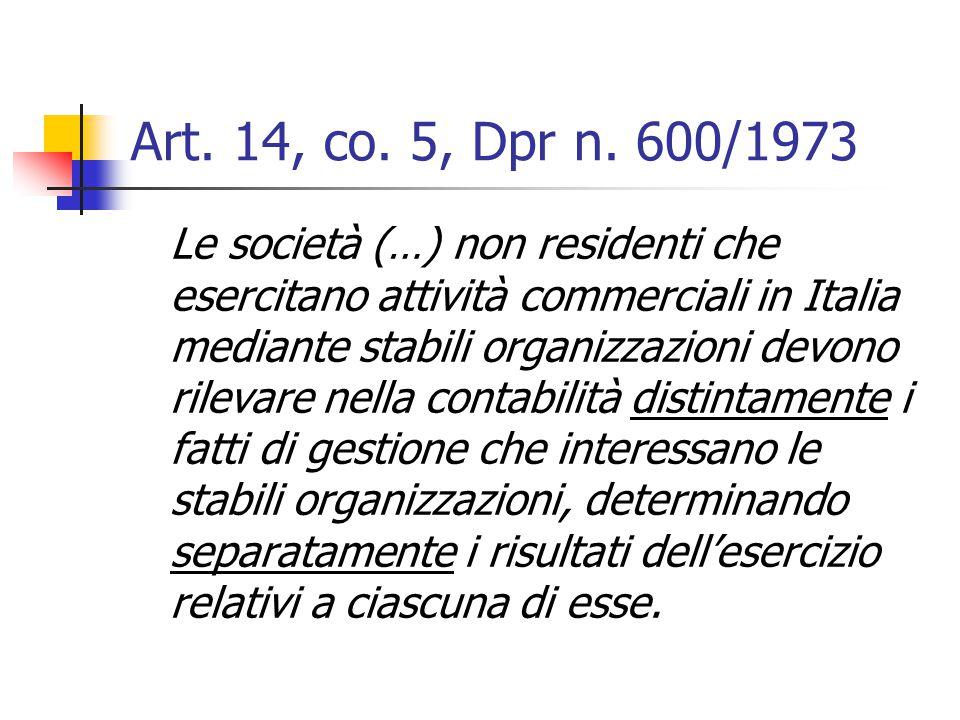 Art. 14, co. 5, Dpr n. 600/1973