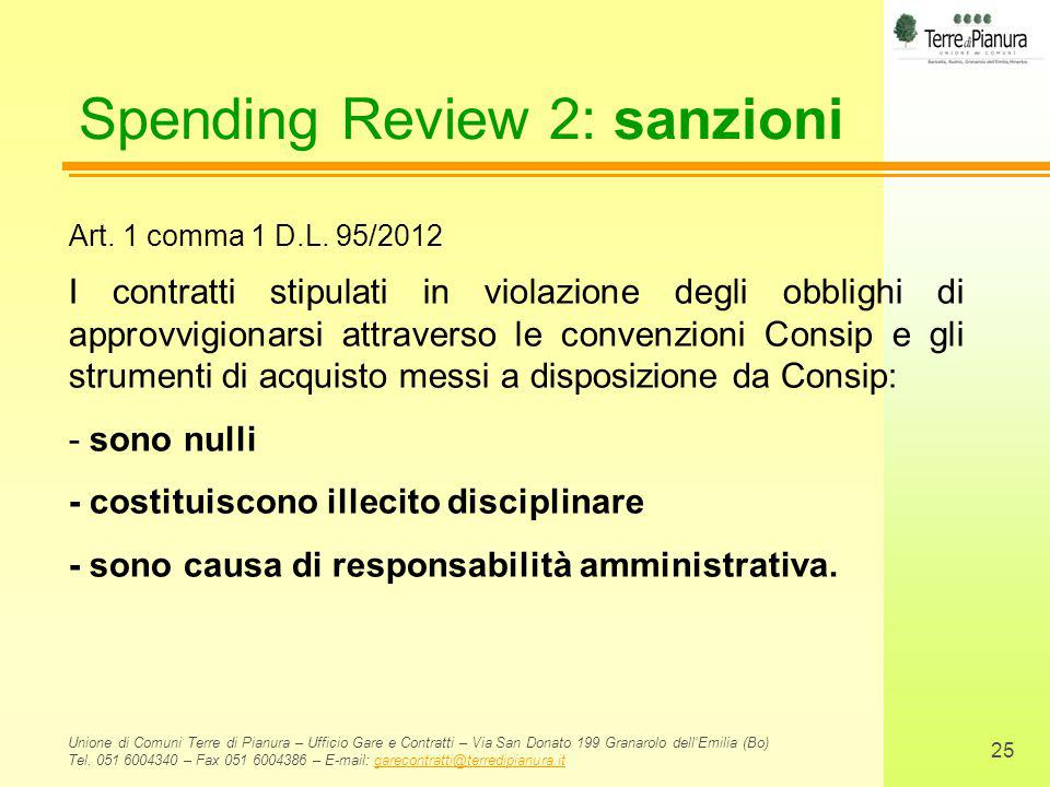 Spending Review 2: sanzioni