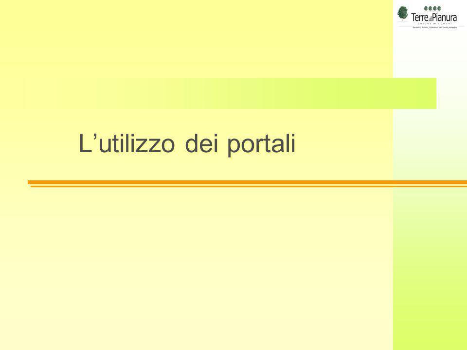 L'utilizzo dei portali