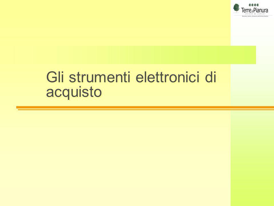 Gli strumenti elettronici di acquisto