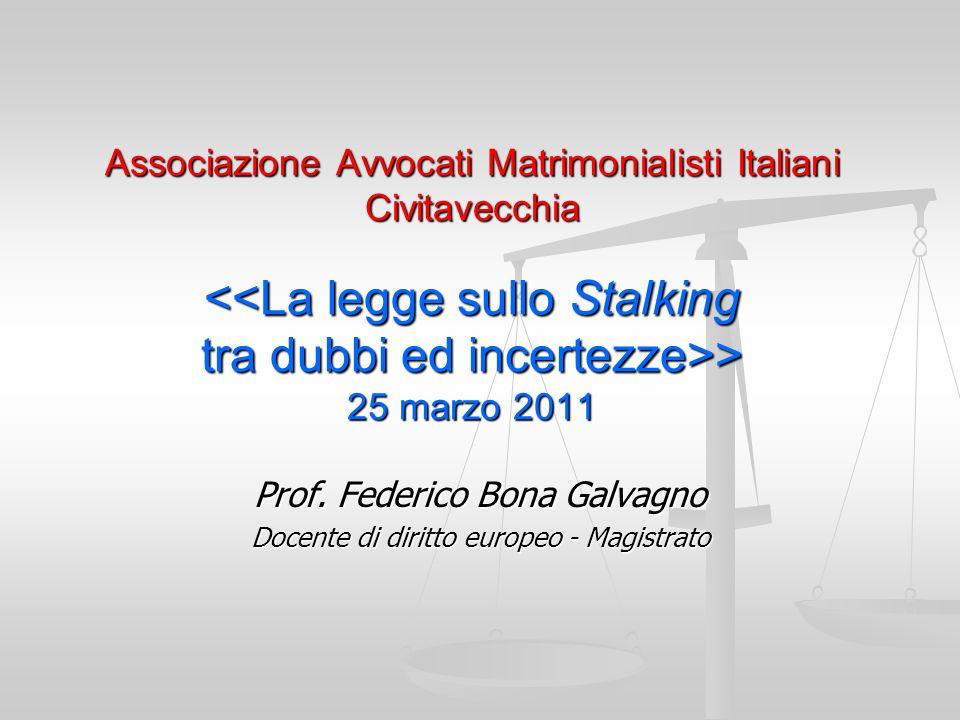 Prof. Federico Bona Galvagno Docente di diritto europeo - Magistrato