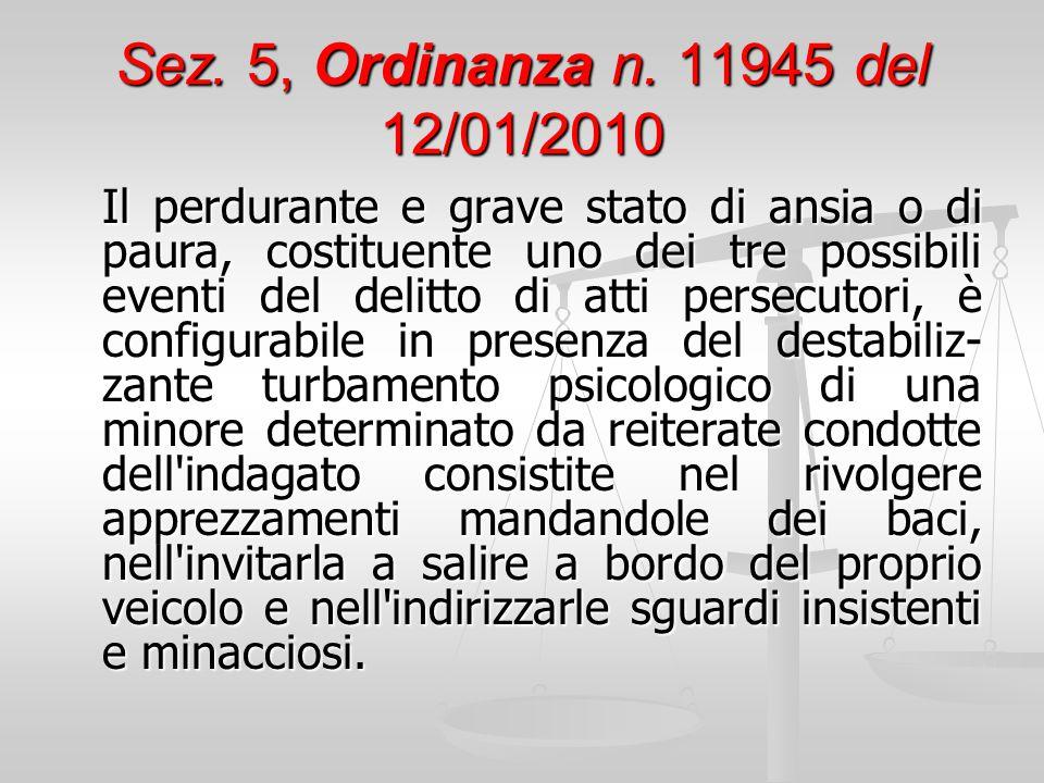 Sez. 5, Ordinanza n. 11945 del 12/01/2010