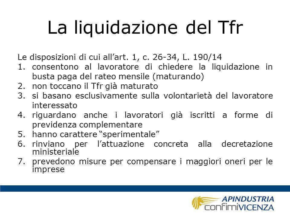 La liquidazione del Tfr