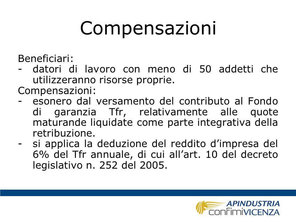 Compensazioni Beneficiari:
