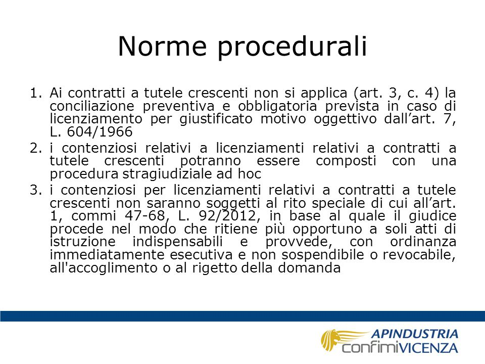 Norme procedurali
