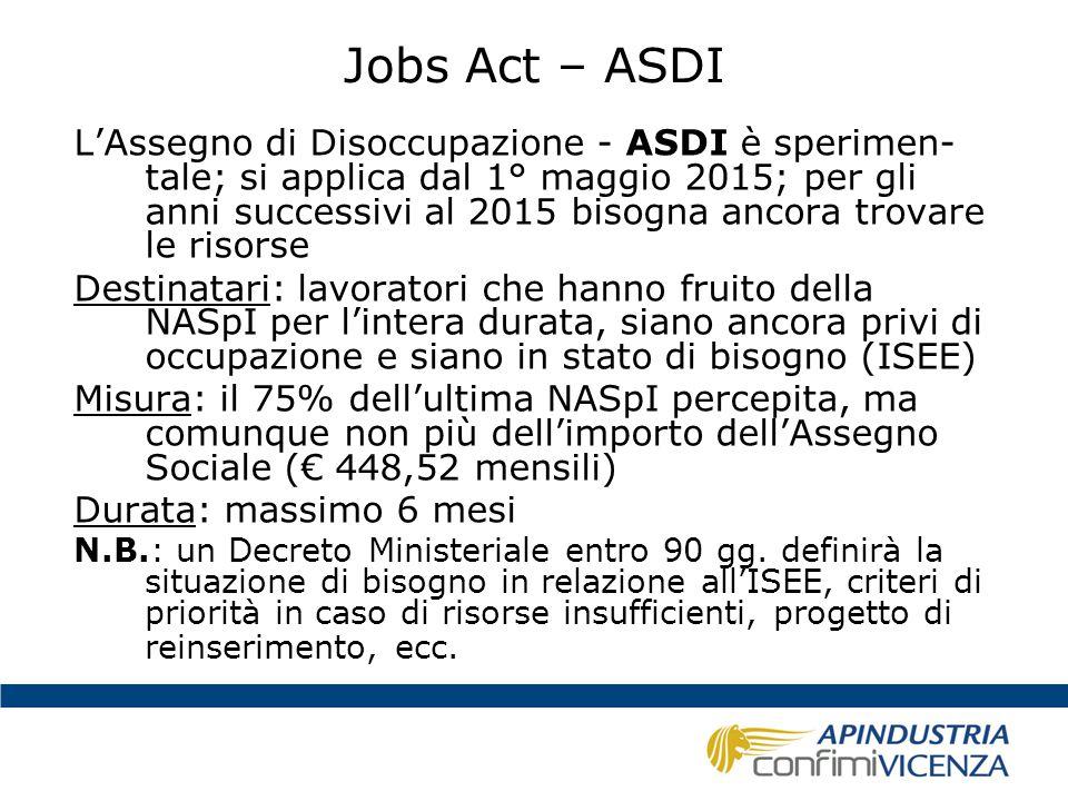 Jobs Act – ASDI