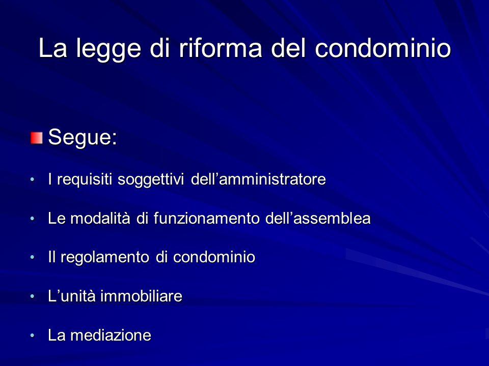 La legge di riforma del condominio