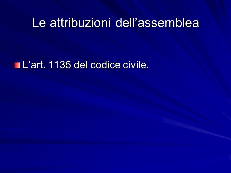 Le attribuzioni dell'assemblea