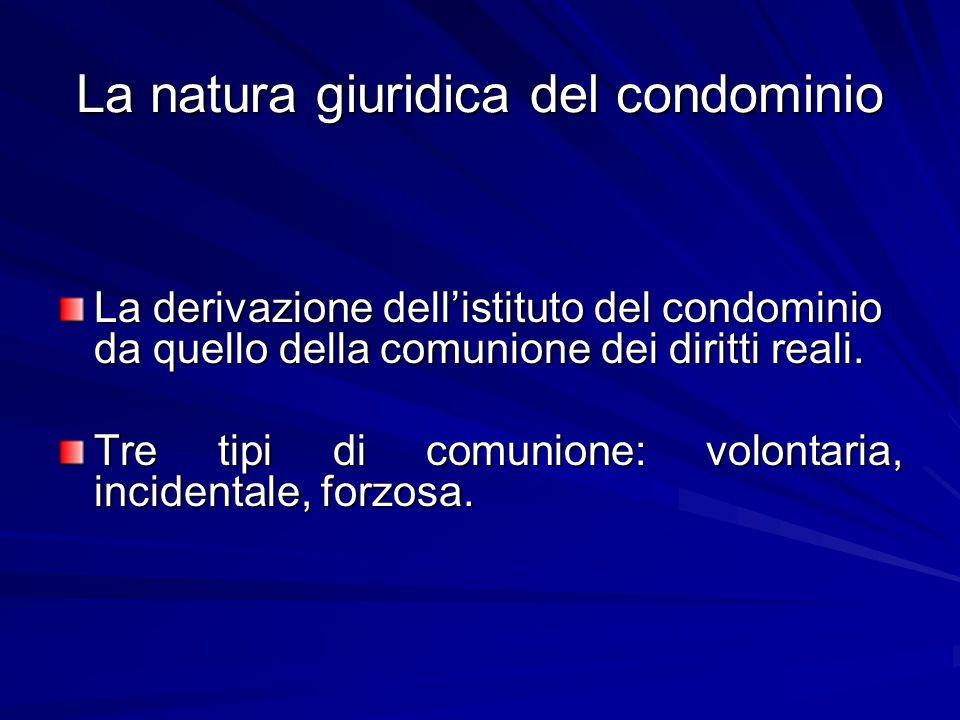La natura giuridica del condominio