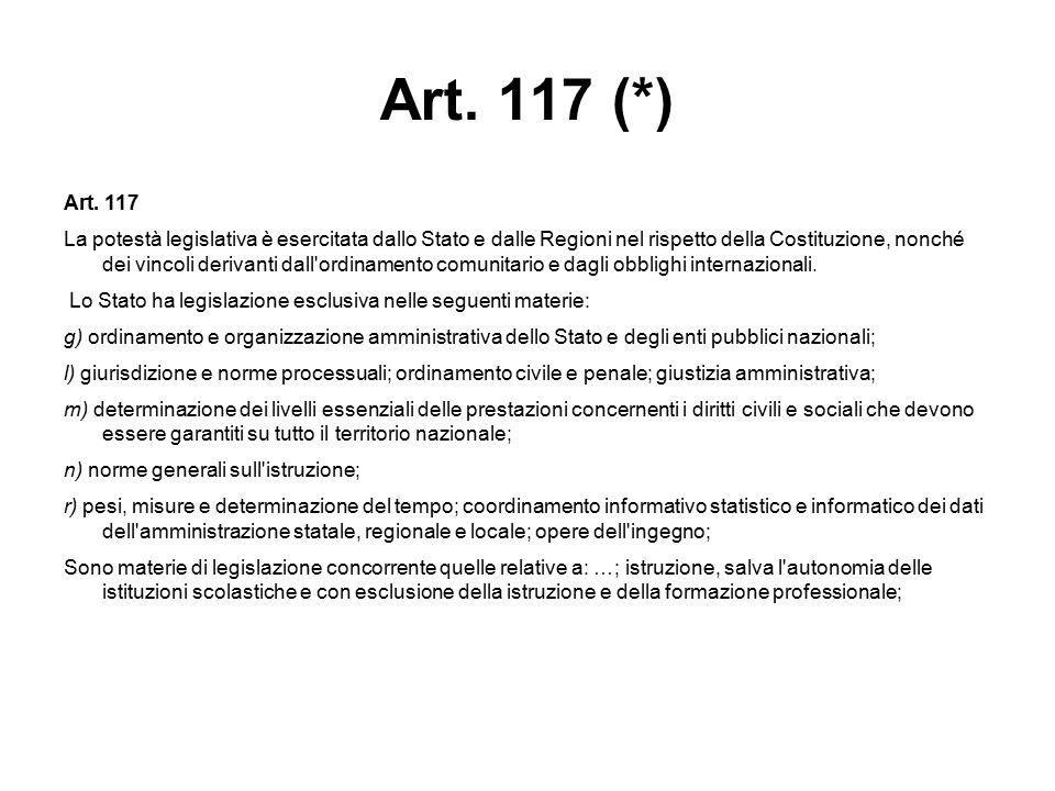 Art. 117 (*) Art. 117.