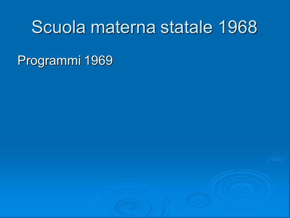 Scuola materna statale 1968
