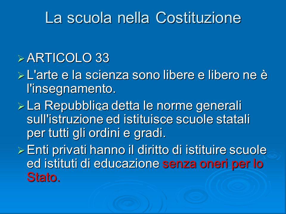 La scuola nella Costituzione