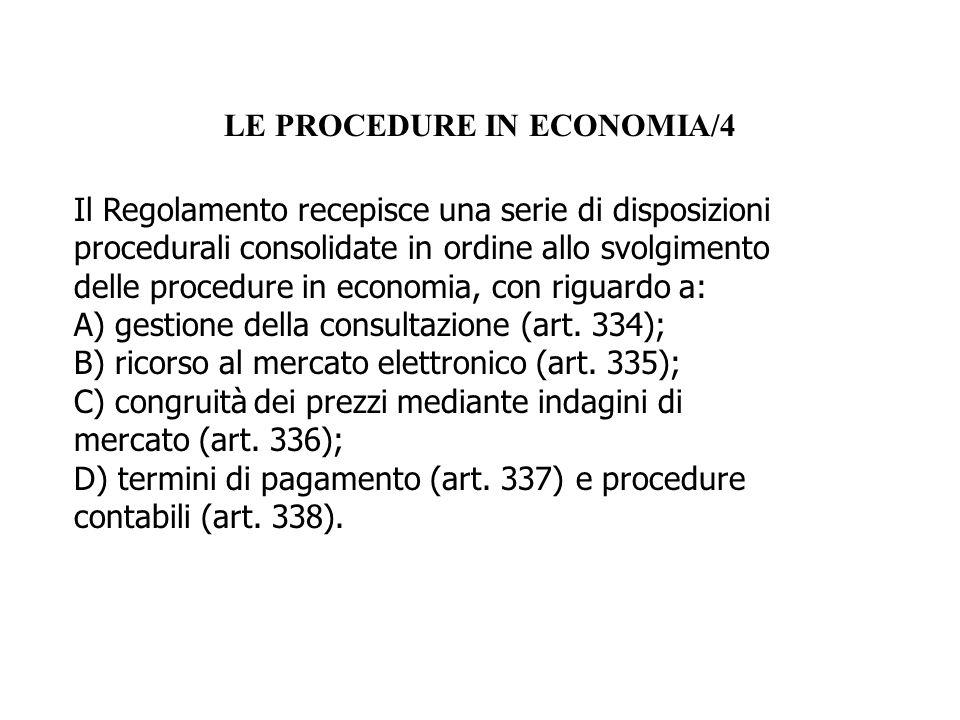 LE PROCEDURE IN ECONOMIA/4