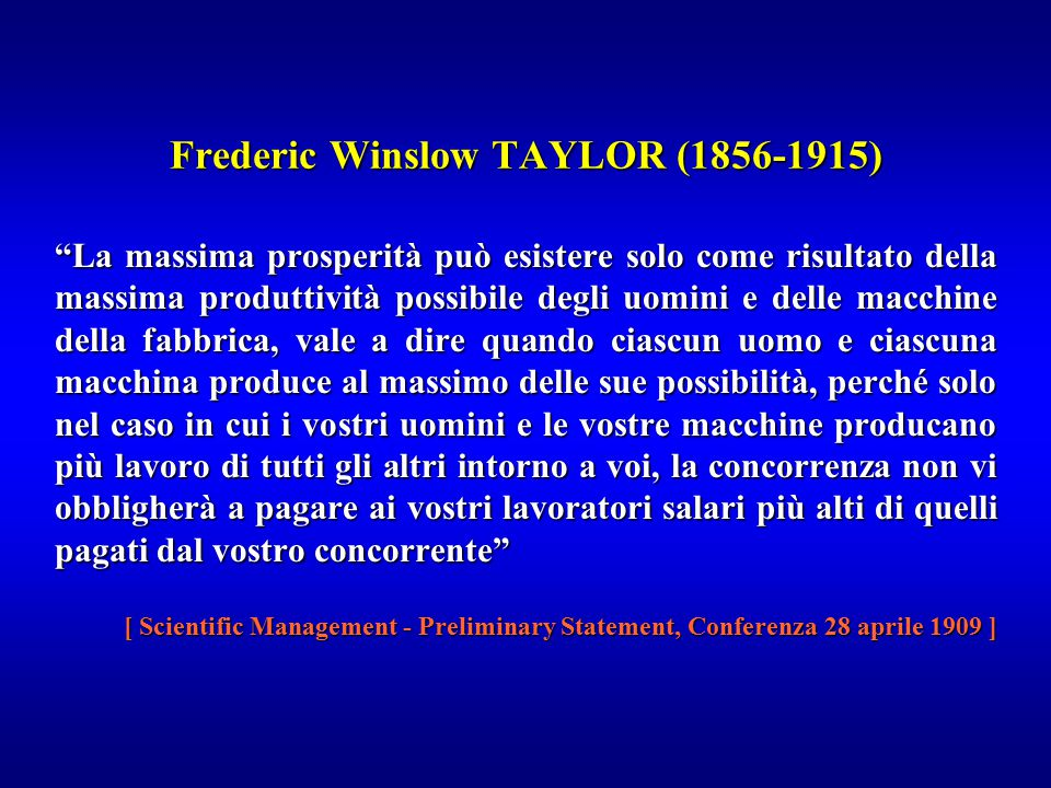 Frederic Winslow TAYLOR (1856-1915)