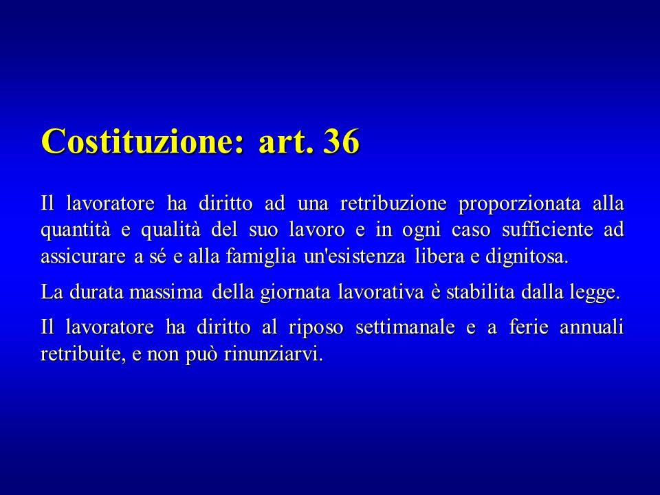Costituzione: art. 36