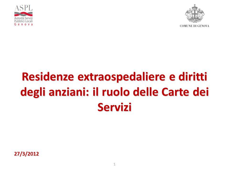 Residenze extraospedaliere e diritti degli anziani: il ruolo delle Carte dei Servizi