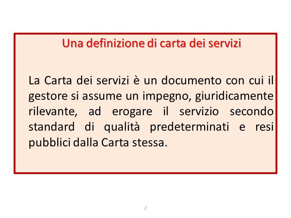 Una definizione di carta dei servizi