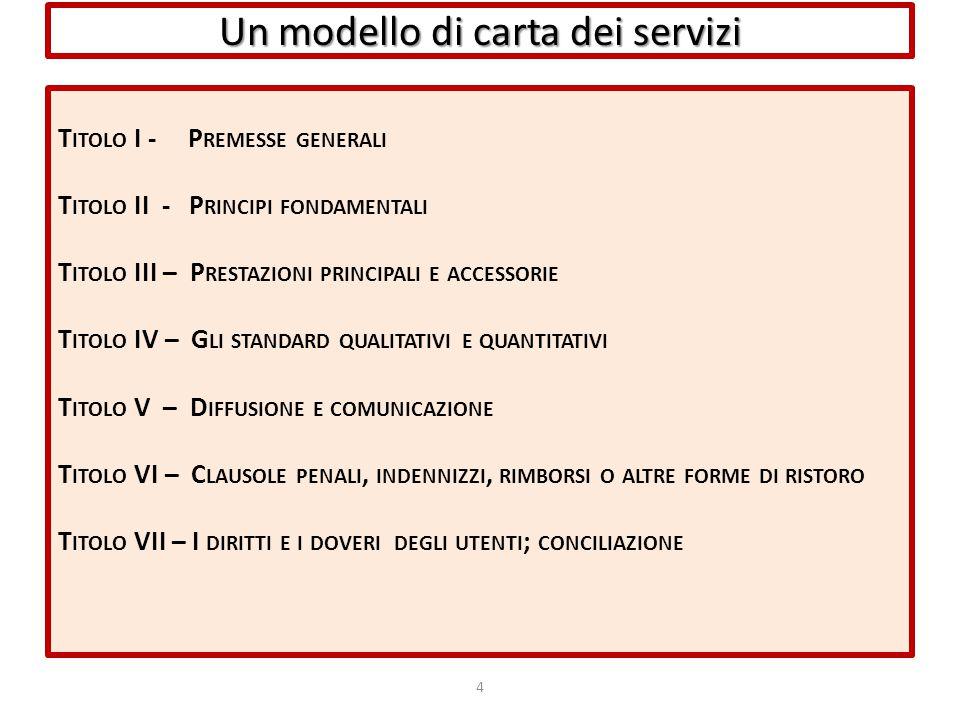 Un modello di carta dei servizi