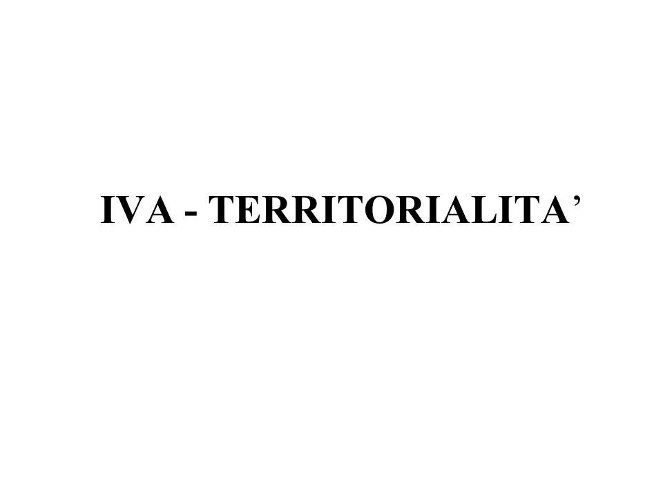 IVA - TERRITORIALITA'