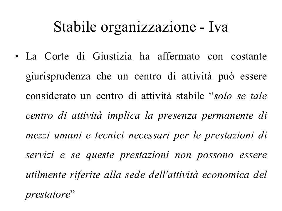 Stabile organizzazione - Iva