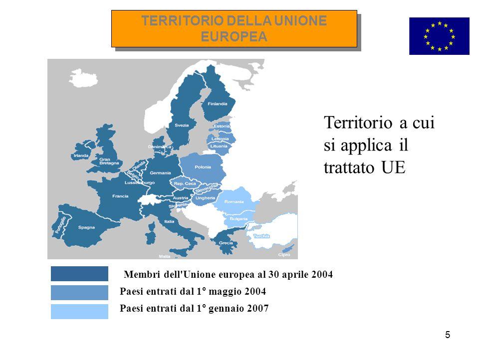 TERRITORIO DELLA UNIONE EUROPEA