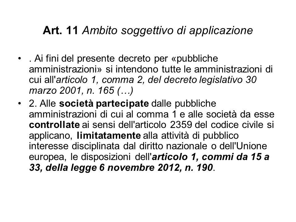 Art. 11 Ambito soggettivo di applicazione