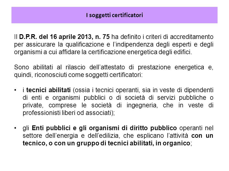 I soggetti certificatori