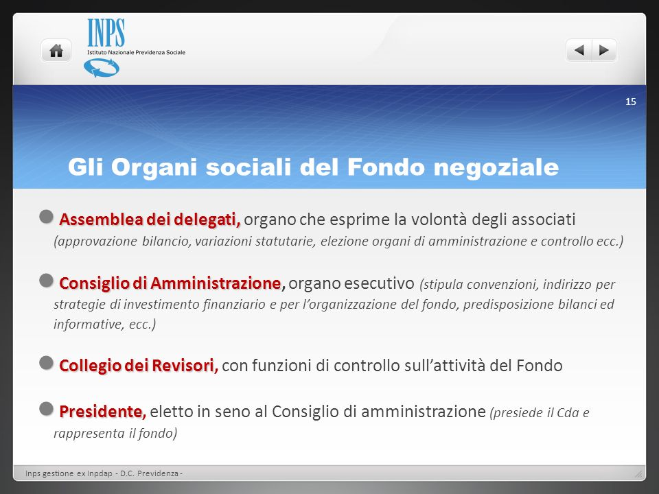 Gli Organi sociali del Fondo negoziale