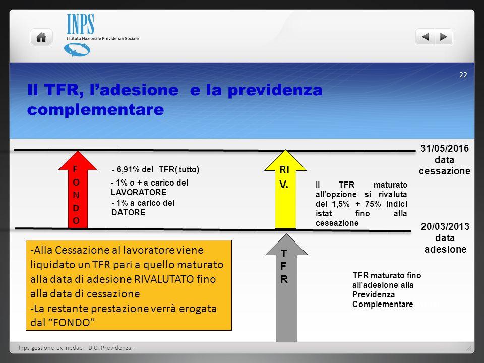 Il TFR, l'adesione e la previdenza complementare
