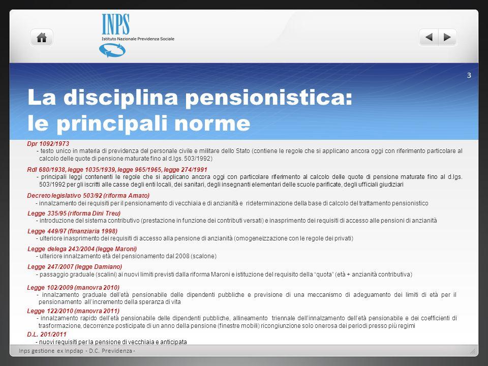 La disciplina pensionistica: le principali norme