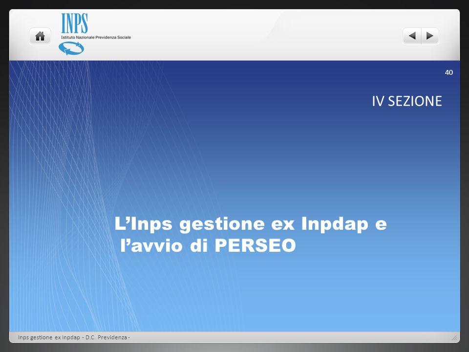 L'Inps gestione ex Inpdap e l'avvio di PERSEO