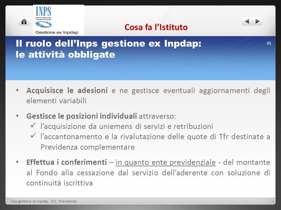 Il ruolo dell'Inps gestione ex Inpdap: le attività obbligate