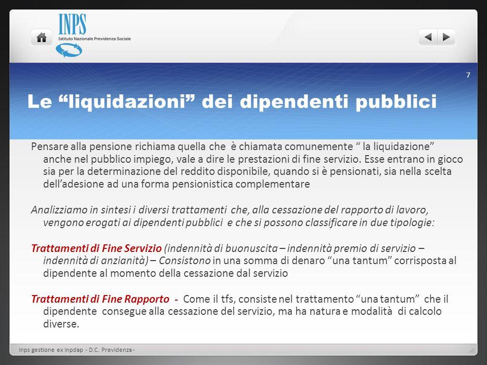 Le liquidazioni dei dipendenti pubblici