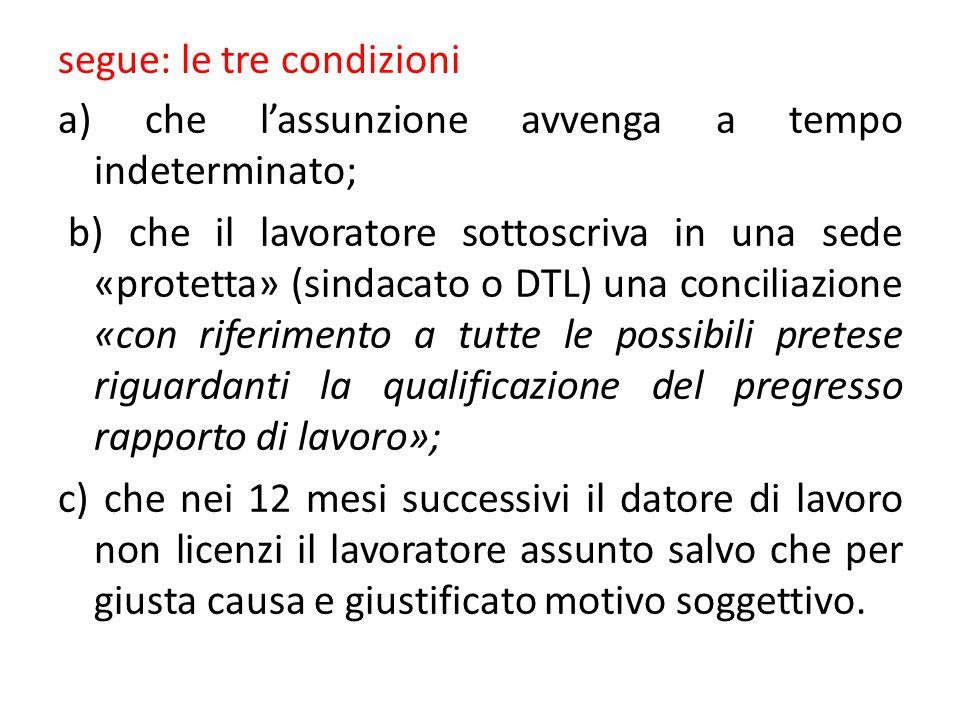 segue: le tre condizioni