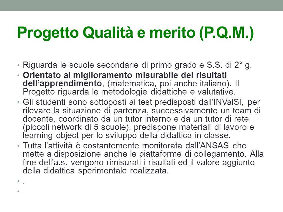Progetto Qualità e merito (P.Q.M.)