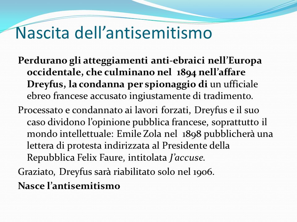 Nascita dell'antisemitismo