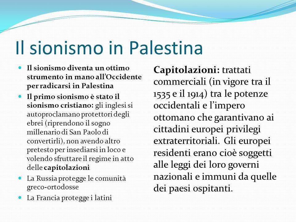 Il sionismo in Palestina