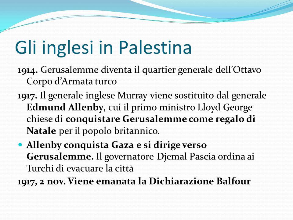 Gli inglesi in Palestina