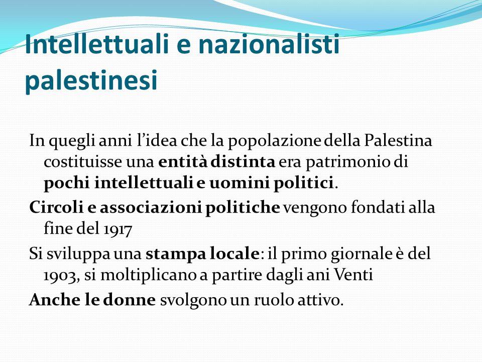 Intellettuali e nazionalisti palestinesi