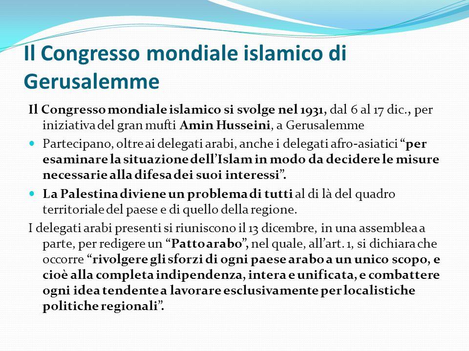 Il Congresso mondiale islamico di Gerusalemme