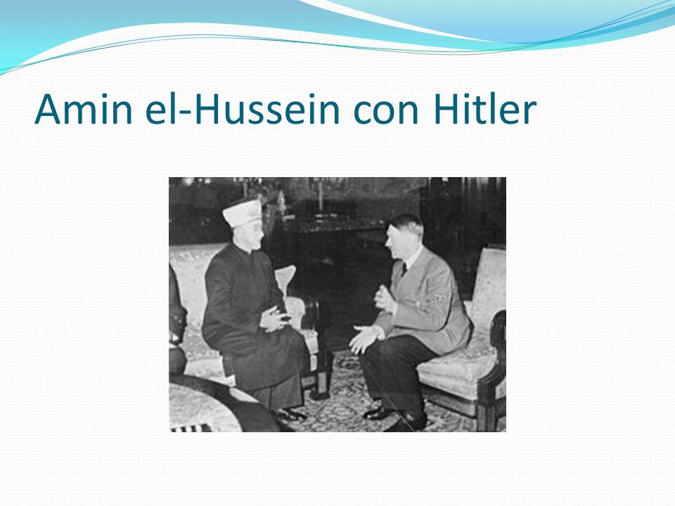 Amin el-Hussein con Hitler