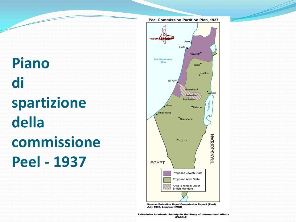 Piano di spartizione della commissione Peel - 1937