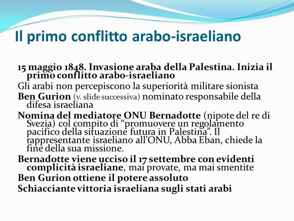 Il primo conflitto arabo-israeliano