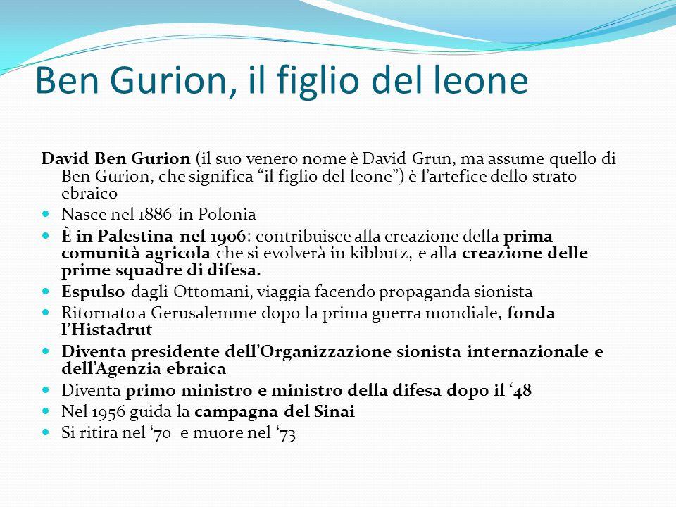 Ben Gurion, il figlio del leone