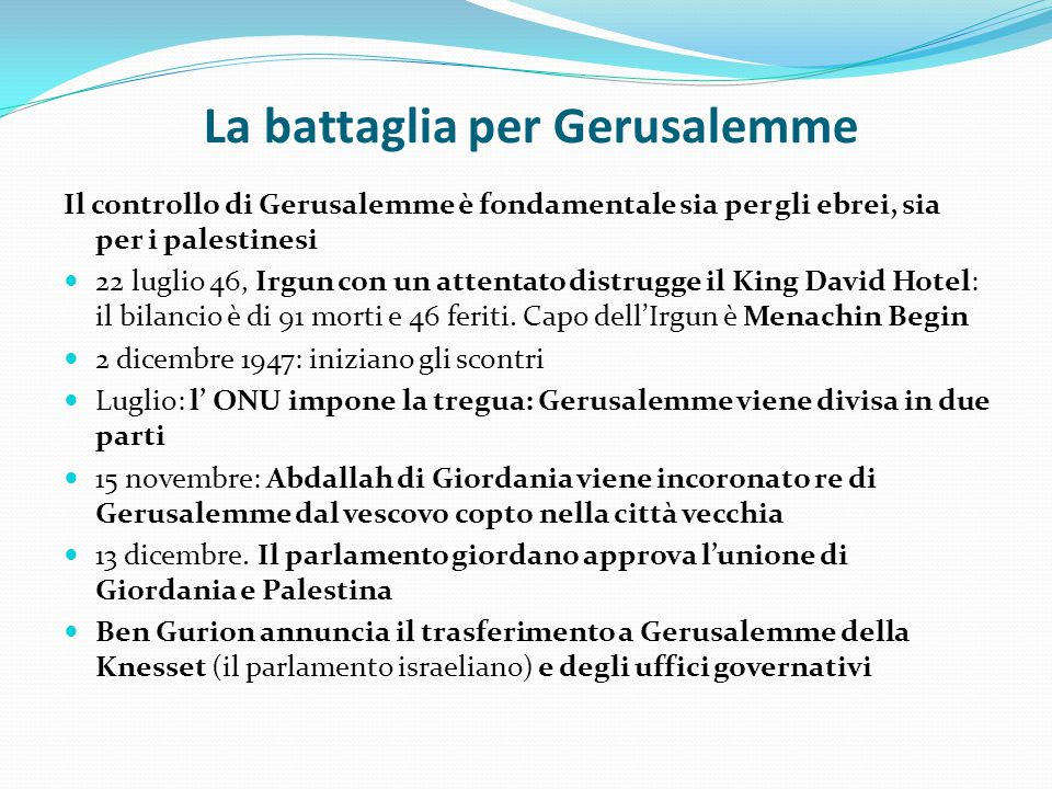 La battaglia per Gerusalemme