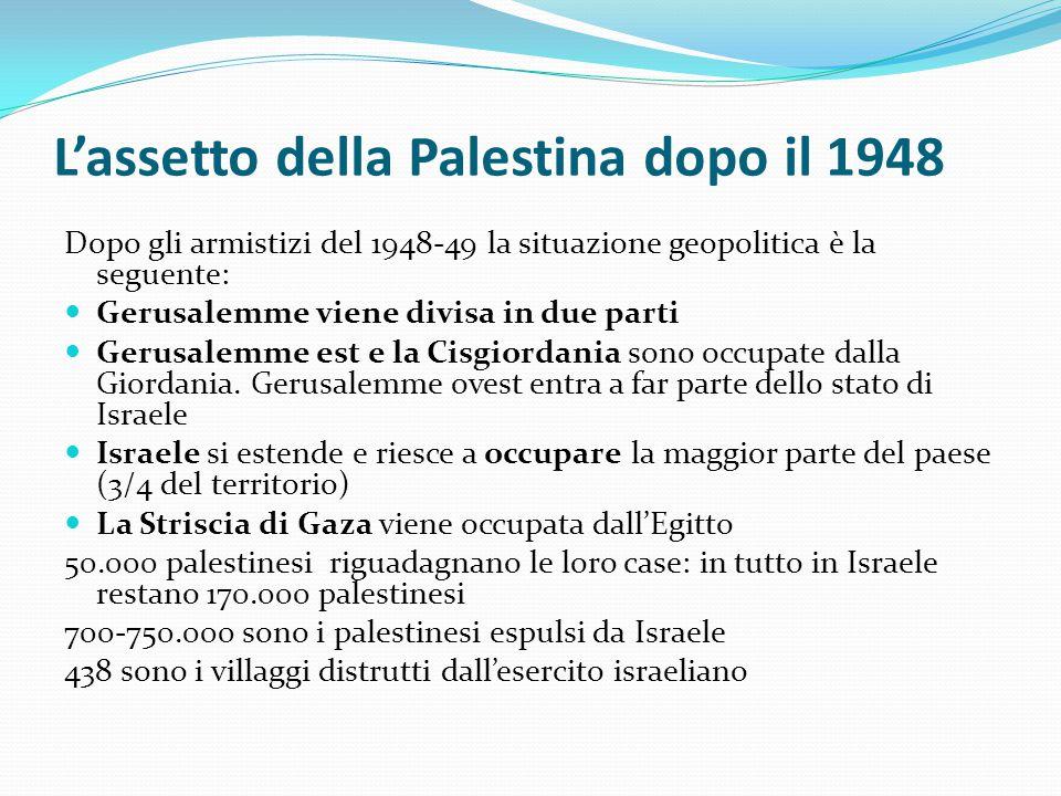 L'assetto della Palestina dopo il 1948