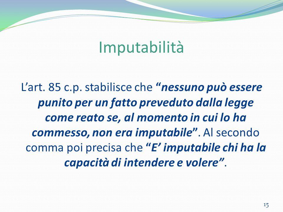 Imputabilità